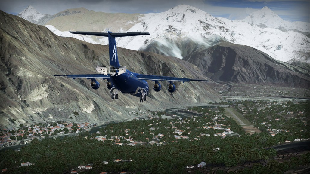 Approach to Gilgit - Avro RJ