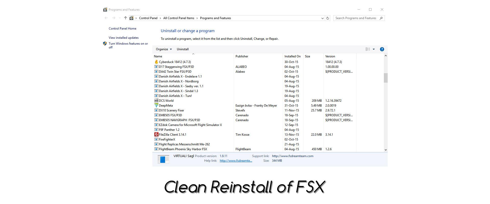 Clean Reinstall of FSX