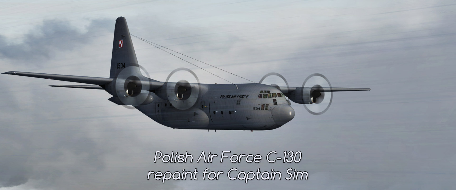Polish Air Force C-130 – repaint for Captain Sim