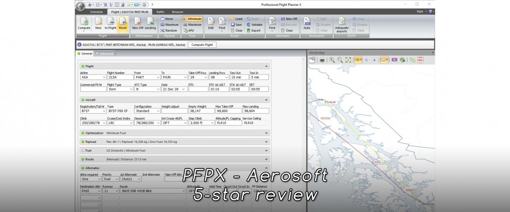 Professional Flight Planner X - Aerosoft - Review (5*) • C-Aviation