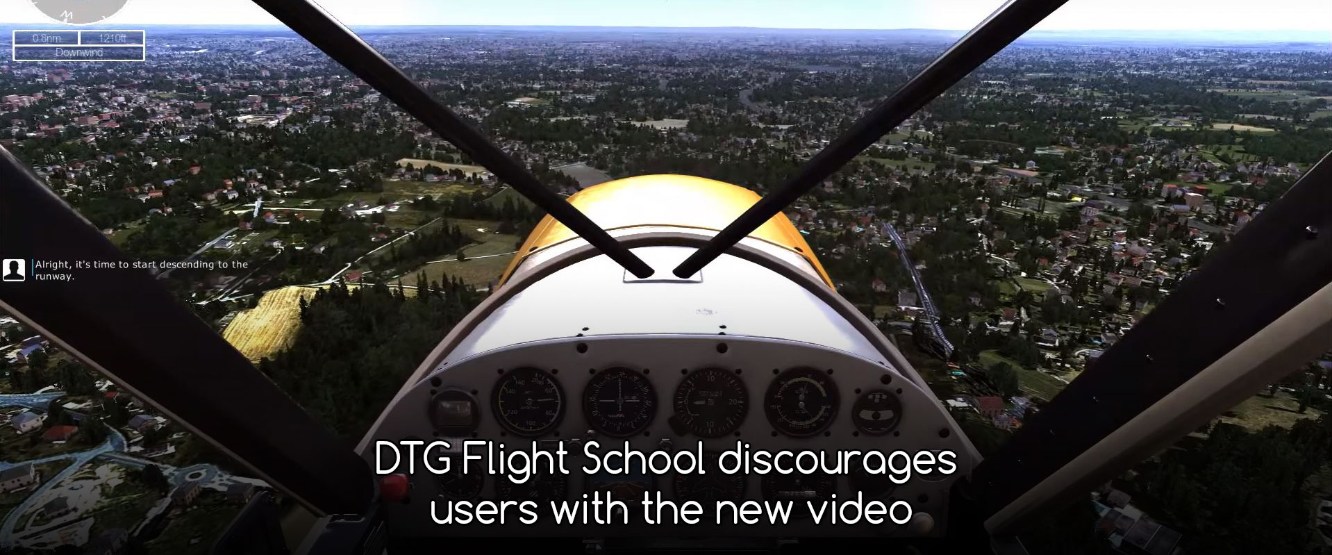 DTG Flight School discourages users with the new video