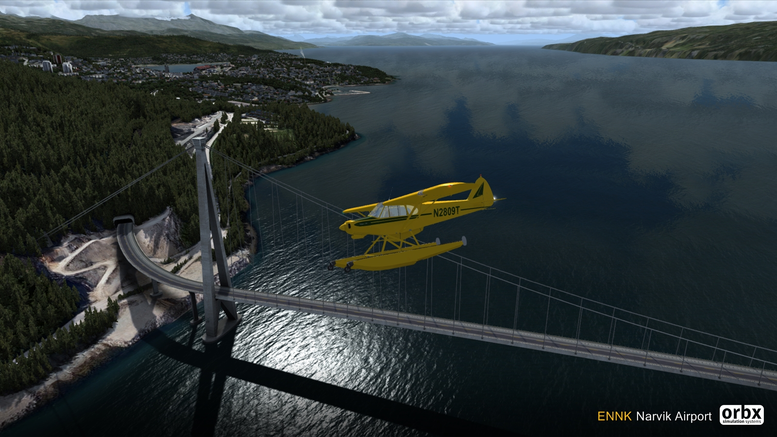 Narvik (ENNK) Video Tour - ORBX scenery preview