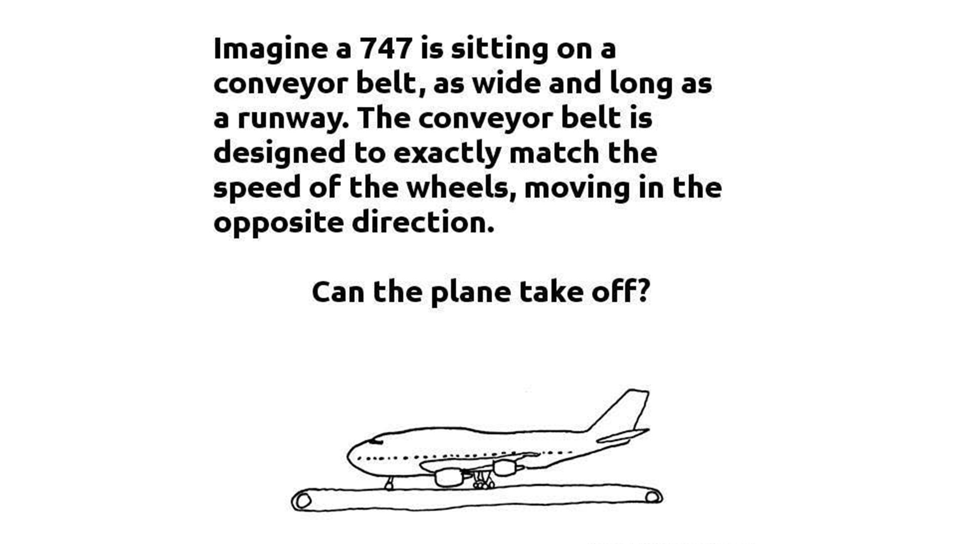 Plane on a conveyor belt - explained / debunked • C-Aviation